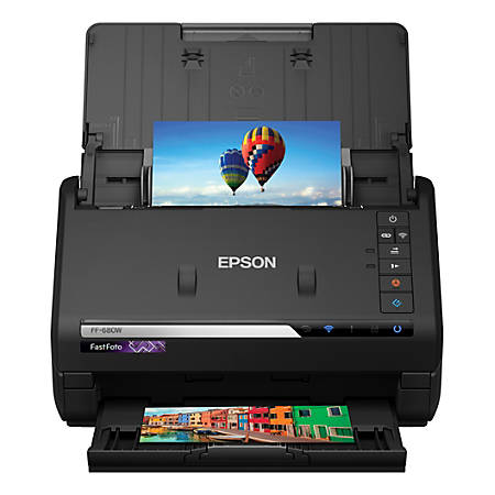 Epson® FastFoto FF-680W Wireless Color High-Speed Photo And Document Scanning System