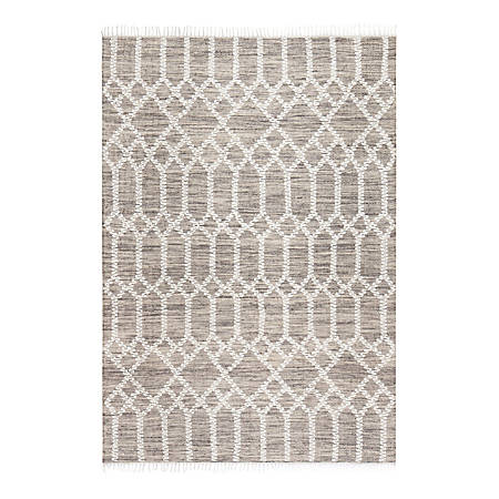 Anji Mountain Raani Jute And Wool Rug, 8' x 10', Brown/Ivory