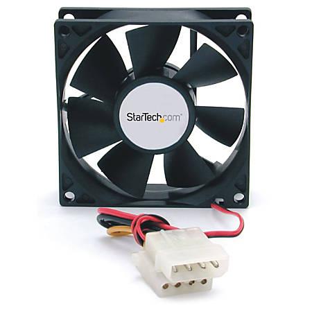 StarTech.com 80x25mm Dual Ball Bearing Computer Case Fan w/ LP4 Connector - System fan kit - 80 mm