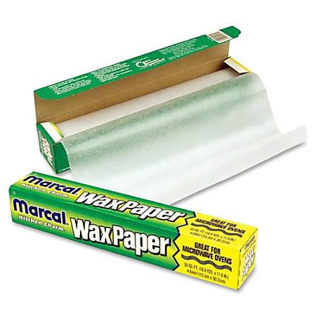 """Bagcraft Wax Paper Dispenser Carton - 11.90"""" Width x 75 ft Length - Dispenser, Easy Tear, Microwave Safe, Cutter Bar, Versatile - Wax Paper - Translucent"""