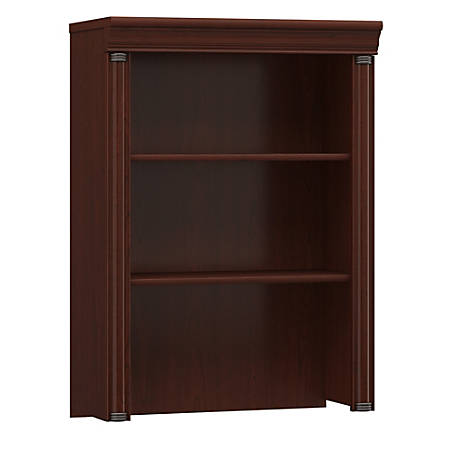 Bush Furniture Birmingham Hutch For Lateral File Cabinet, Harvest Cherry, Standard Delivery