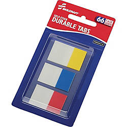 SKILCRAFT Self stick Durable Tabs 150