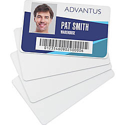 Advantus Blank PVC ID Cards Printable