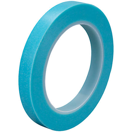 "3M™ 4737T Masking Tape, 3"" Core, 0.5"" x 108', Blue, Case Of 3"