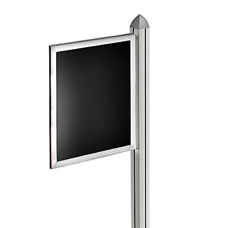 """Azar Displays Double-Sided Slide-In Frame For Sky Tower Displays, 17"""" x 11"""", Silver"""