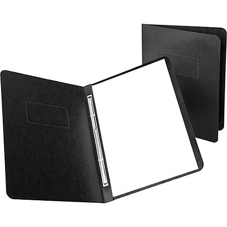"""Oxford® PressGuard® Report Covers With Reinforced Side Hinge, 8 1/2"""" x 11"""", 65% Recycled, Black"""