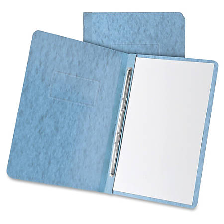 """Oxford Pressboard Report Covers with Hinge - 3"""" Folder Capacity - Letter - 8 1/2"""" x 11"""" Sheet Size - 2 x Prong Fastener(s) - Pressboard - Light Blue - Recycled - 1 Each"""