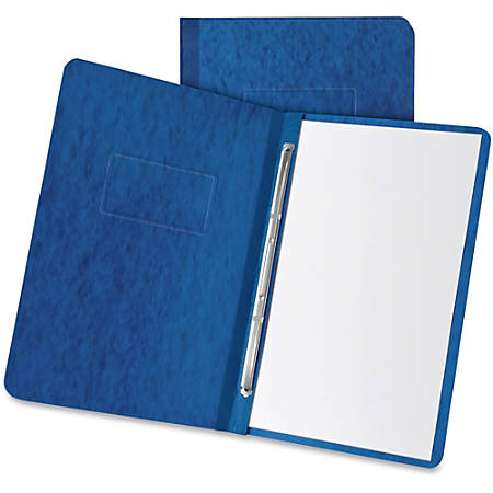 """Oxford Pressboard Report Covers with Hinge - 3"""" Folder Capacity - Letter - 8 1/2"""" x 11"""" Sheet Size - 2 x Prong Fastener(s) - Pressboard - Dark Blue - Recycled - 1 Each"""