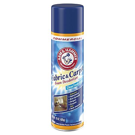Arm & Hammer™ Fabric And Carpet Foam Deodorizer, Fresh Scent, 15 Oz, Pack Of 8