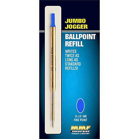 "MMF Industries Jumbo ""Jogger"" Ballpoint Refill, Medium Point, 1.0 mm, Blue"