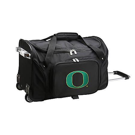 Denco Sports Luggage Rolling Duffel Bag, Oregon Ducks, Black