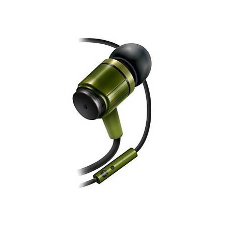 GOgroove AudiOHM In-Ear Headphones, Army Green, GGAORNF110GNEW