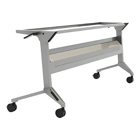 "Safco® Flip-N-Go Training Table Base, 28""H x 72""W, Silver"