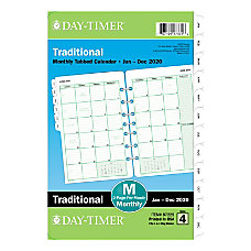 Day Timer Classic Monthly Refill Desk