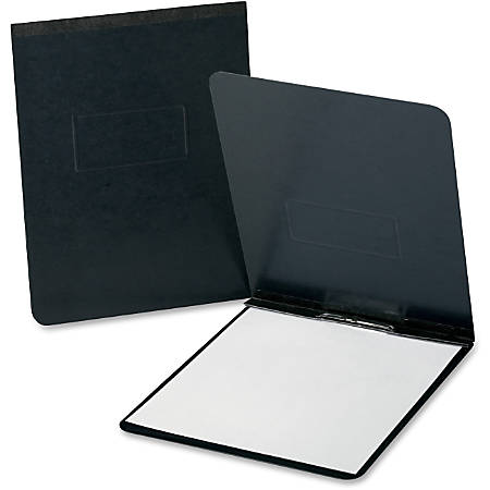 """Oxford® PressGuard® Report Covers With Reinforced Top Hinge, 8 1/2"""" x 11, 65% Recycled, Black"""