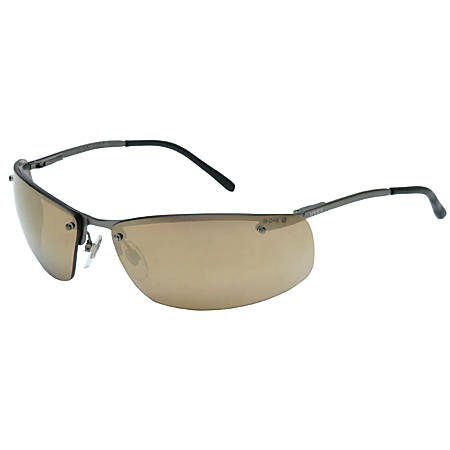 Slate Eyewear, Gold Mirror Lens, Polycarbonate, HC, Matte Gunmetal Frame, Metal