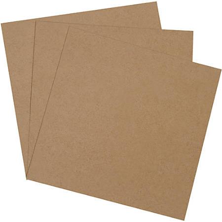 "Office Depot® Brand Heavy-Duty Chipboard Pads, 16"" x 16"", 100% Recycled, Kraft, Case Of 280"