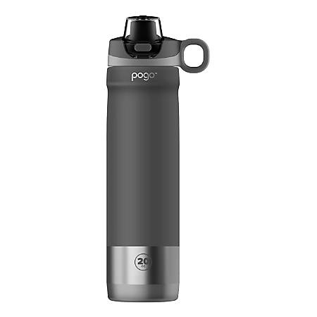 Pogo Insulated Stainless Steel Water Bottle, 20 Oz, Gray Item # 9293020