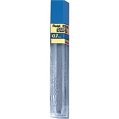 Pentel® Super Hi-Polymer Lead Refills, Medium Point, 0.7 mm, 2H Hardness, Tub Of 12 Refills