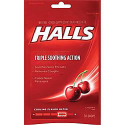 Cadbury Halls Cherry Cough Drops Cherry