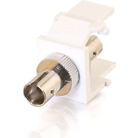 C2G Snap-In ST Fiber F/F Keystone Insert Module - White - White