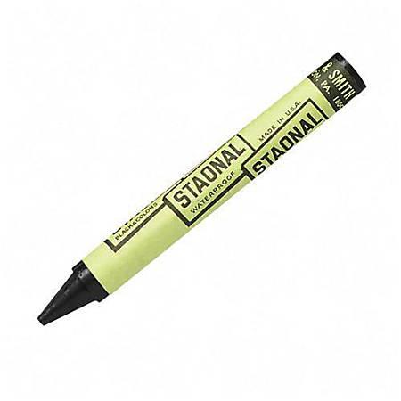 "Crayola Staonal Marking Crayon - 5"" Length - 0.6"" Diameter - Black - 8 / Box"