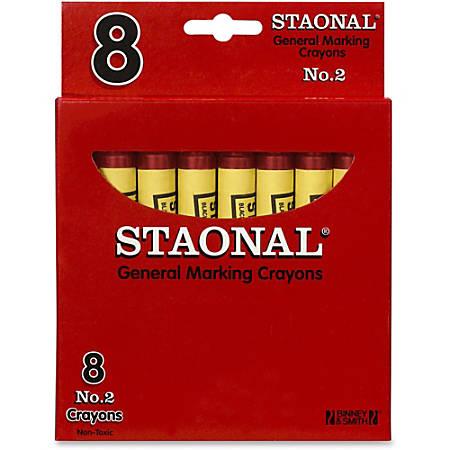 "Crayola Staonal Marking Crayon - 5"" Length - 0.5"" Diameter - Red - 8 / Box"