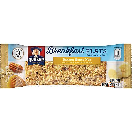 Quaker Oats Foods Breakfast Flats Crispy Snack Bars - Individually Wrapped, No Artificial Flavor, No Artificial Color - Banana, Honey Nut - 7 oz - 9 / Box