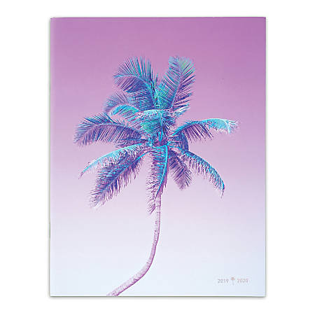 "Matt Crump For Cambridge® Monthly Academic Planner, 8-1/2"" x 11"", Palm Tree, July 2019 To June 2020"