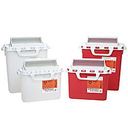 Patient Room Sharps Collectors With Counterbalanced