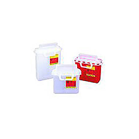 Patient Room Sharps Collectors With Counterbalanced Doors, Red, Pack Of 20