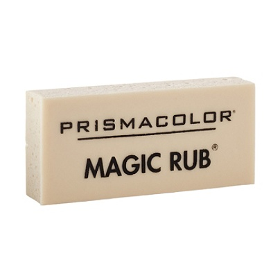 prismacolor magic rub vinyl eraser white by office depot officemax