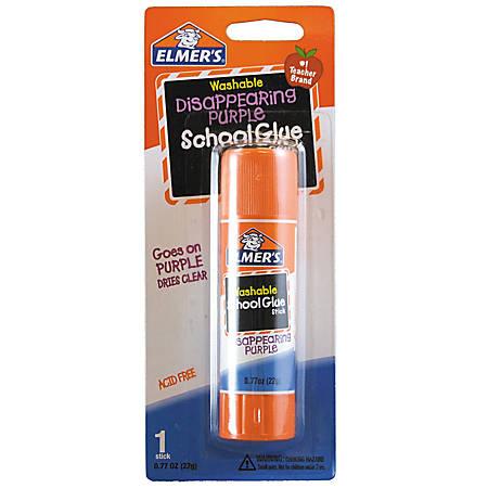 Elmer's® Washable Disappearing Purple School Glue Stick, 0.77 Oz