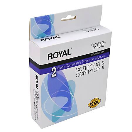Royal® Correctable Typewriter Ribbons, Black, 013045, Pack Of 2