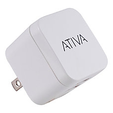 Ativa Dual Port USB Wall Charger