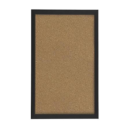 FORAY Cork Board 12 x 18 Tan Cork Black D cor Frame by Office Depot ...