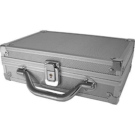 "CRU Storage Box - External Dimensions: 9"" Length x 5.8"" Width x 2"" Height - Combination Lock Closure - Heavy Duty - Metal - White - For Hard Drive - 1"