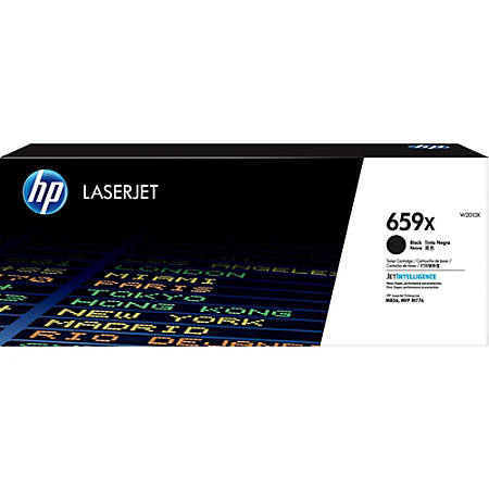 HP 659X (W2010X) Toner Cartridge - Black - Laser - High Yield - 34000 Pages - 1 Pack