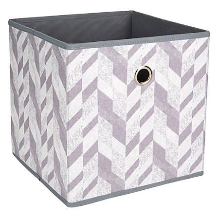 "Realspace® Storage Cube, 12"" x 12"" x 12"", Herringbone Gray"