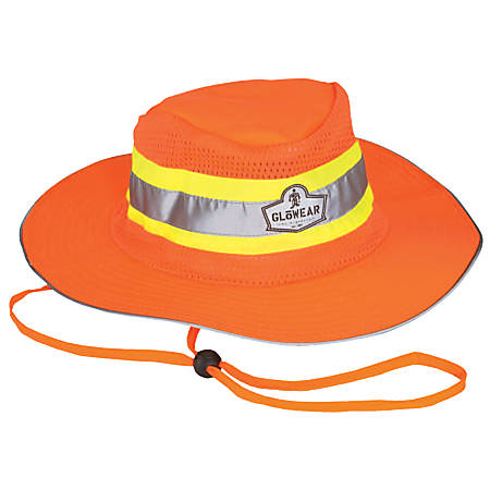 Ergodyne GloWear Hi-Vis Polyester Ranger Hat, Large/X-Large, Orange