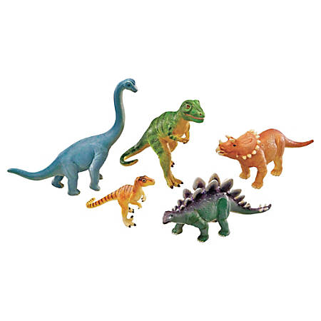 Learning Resources Jumbo Figures, Dinosaurs, Pack Of 5