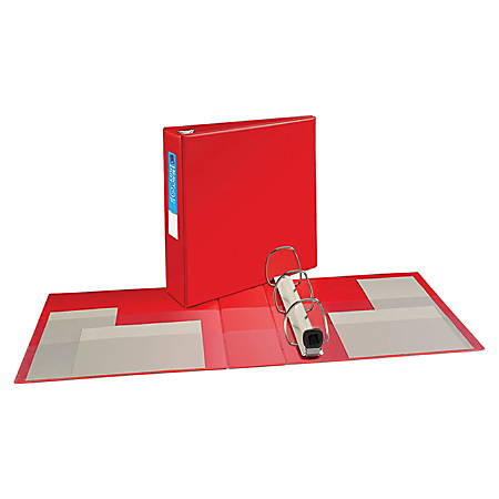 """Avery® Heavy-Duty Binders With One-Touch EZD™ Ring, 8 1/2"""" x 11"""", 3"""" Rings, 45% Recycled, Red"""
