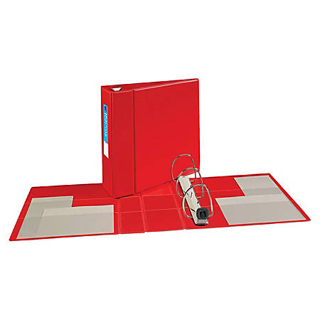 """Avery® Heavy-Duty Binders With One-Touch EZD™ Ring, 8 1/2"""" x 11"""", 4"""" Rings, 45% Recycled, Red"""