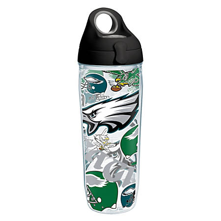 Tervis NFL All-Over Water Bottle With Lid, 24 Oz, Philadelphia Eagles