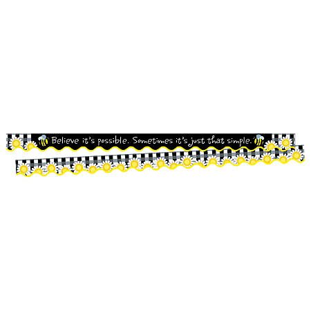 """Barker Creek Scalloped-Edge Border Strips, 2 1/4"""" x 36"""", Believe It's Possible, Pre-K To College, Pack Of 26"""