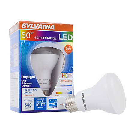 Sylvania LEDvance R20 Dimmable 540 Lumens LED Light Bulbs, 6 Watt, 5000 Kelvin/Daylight, Case Of 6 Bulbs