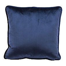 Zuo Modern Velvet Pillow Blue
