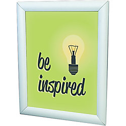 """Deflect-O® Wall-Mount Display Frame, 23 1/8"""" x 29 1/8"""" Frame Size, Holds 22"""" x 28"""" Insert, Silver"""