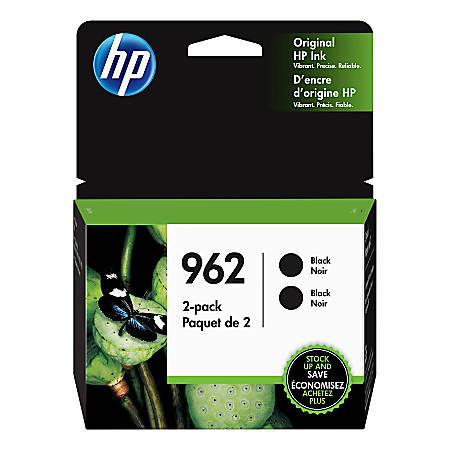 HP 962 Black Ink Cartridges, Pack Of 2 Ink Cartridges