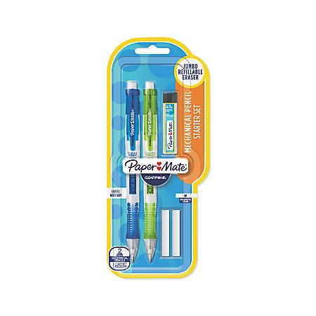 Paper Mate® ClearPoint™ Mechanical Pencil Starter Set, 0.9 mm, Assorted Barrel Colors